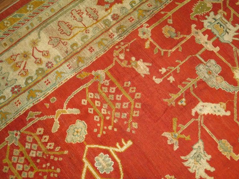 Antique Oushak Rug For Sale 6