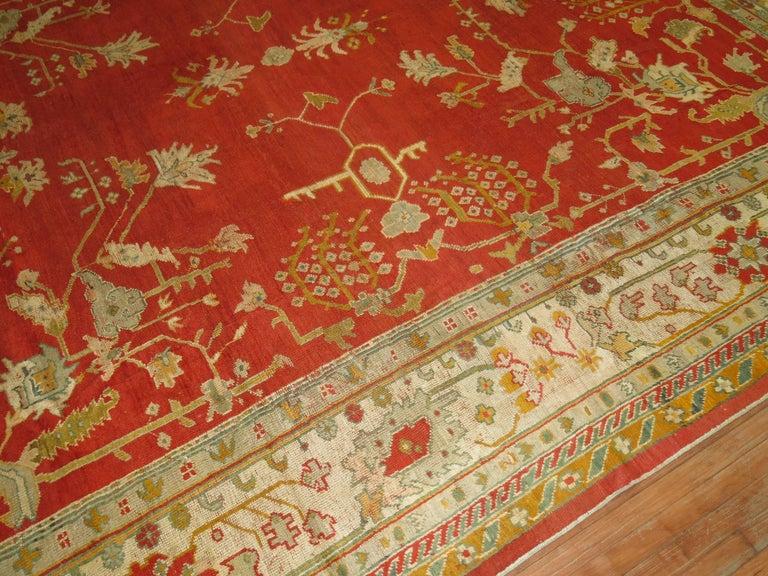 Antique Oushak Rug For Sale 7