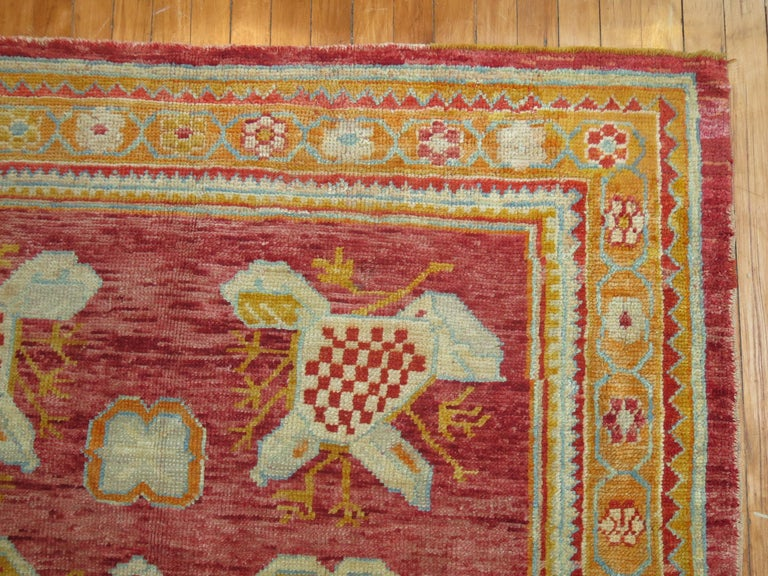 Adirondack Antique Oushak Rug For Sale