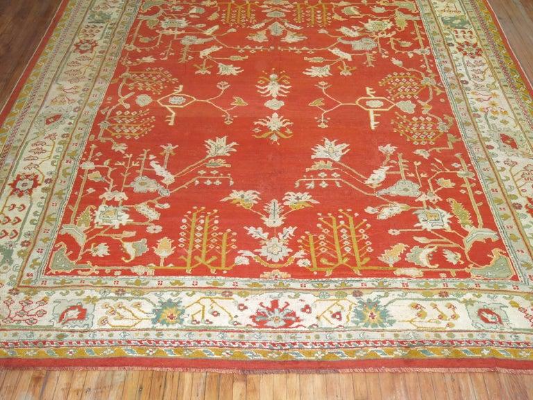 Turkish Antique Oushak Rug For Sale