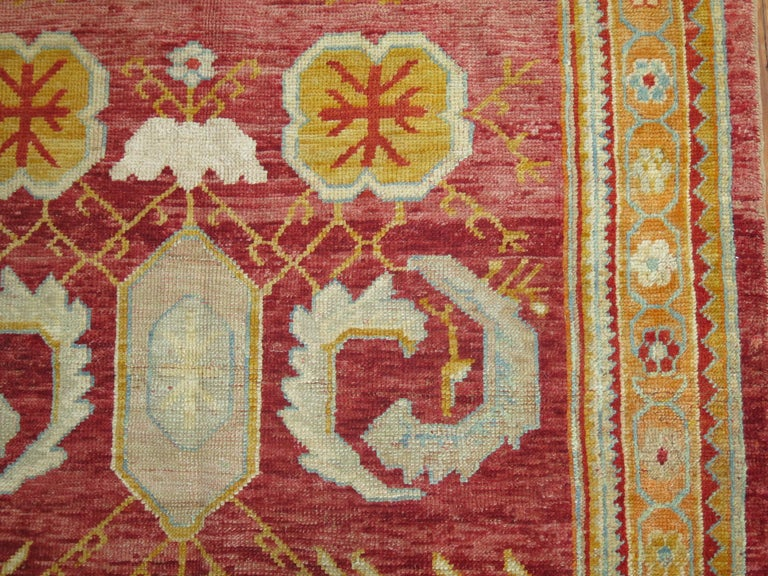 Turkish Antique Oushak Rug For Sale