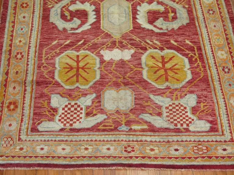 Wool Antique Oushak Rug For Sale