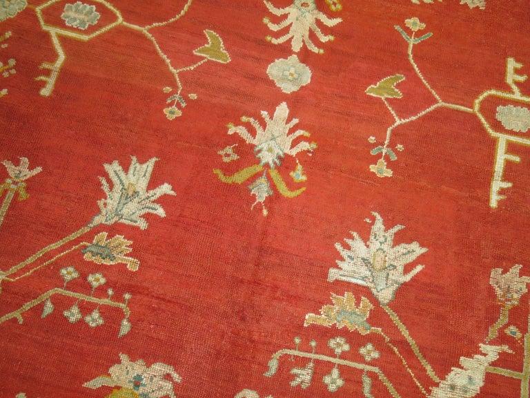 Antique Oushak Rug For Sale 1