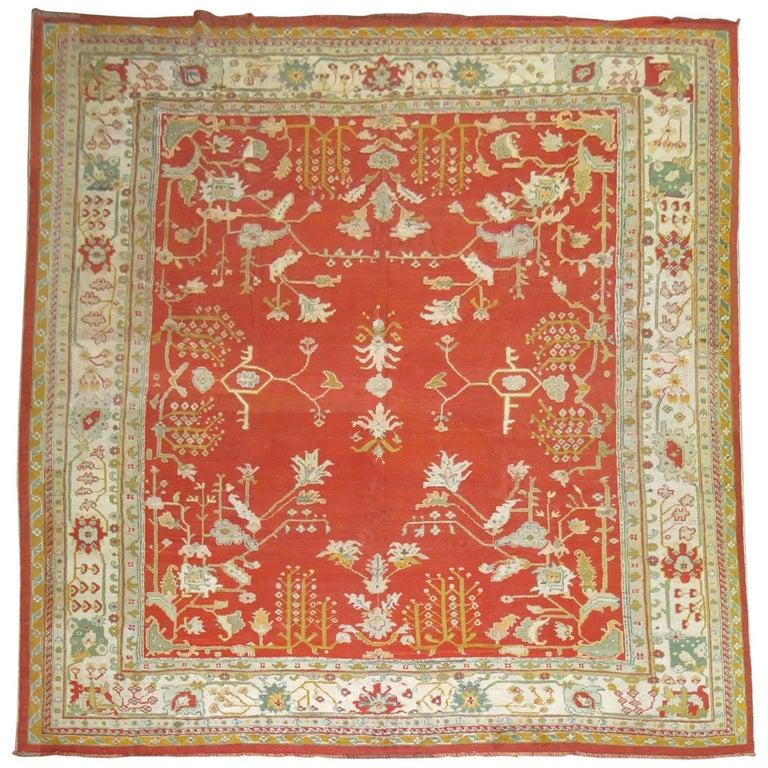 Antique Oushak Rug For Sale