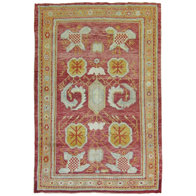Antique Oushak Rug For Sale
