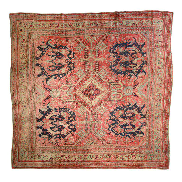 Oushak rug, late 19th century, offered by Amadi Carpets