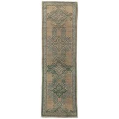 Antique Oushak Runner 'Fragment'