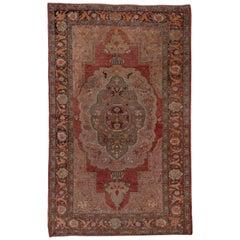 Antiker Oushak kleiner Teppich