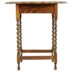 Antique Oval Barley Twist Table, Lamp Table, Scotland 1930, B2419