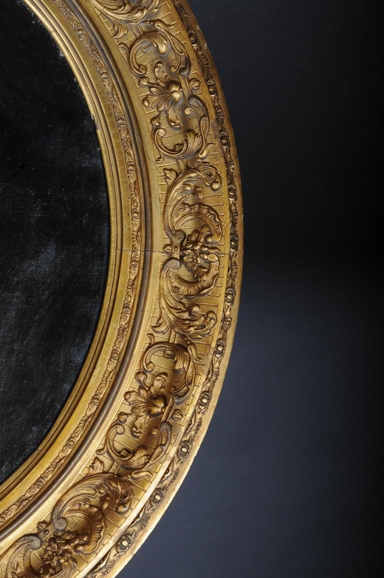 Antique Oval Biedermeier Gentlemen's Portrait / Painting, 19th Century For Sale 9