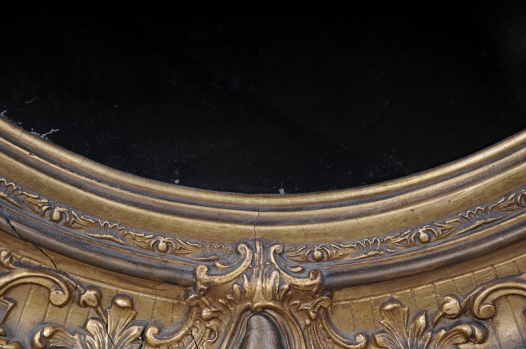 Antique Oval Biedermeier Gentlemen's Portrait / Painting, 19th Century For Sale 13