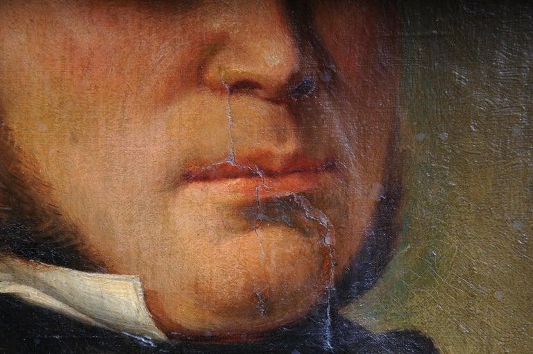 Antique Oval Biedermeier Gentlemen's Portrait / Painting, 19th Century In Good Condition For Sale In Berlin, DE