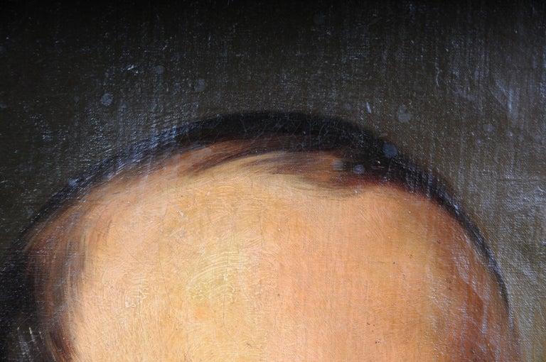 Antique Oval Biedermeier Gentlemen's Portrait / Painting, 19th Century For Sale 1