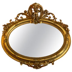 Antique Oval Gilt Gold Mirror