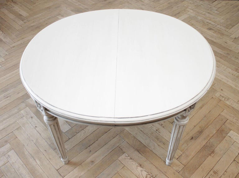 20th Century Antique Oval Louis XVI Style Painted Dining Table