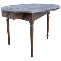 Antique Oval Pine Three Legged Occasional Table