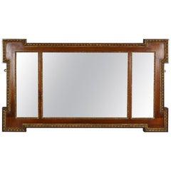 Antique Overmantel Mirror, Edwardian, Regency Revival, Wall Mirror, circa 1910