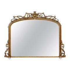 Antique Overmantel Mirror, Mid-Sized, English Regency, Giltwood, circa 1820