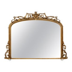 Antique Overmantel Mirror, Mid-Sized, English Regency, Giltwood, circa 1820