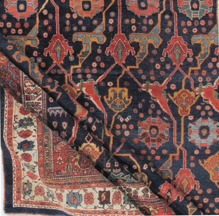Antique Oversize Persian Bidjar Rug, circa 1880 In Good Condition For Sale In New York, NY