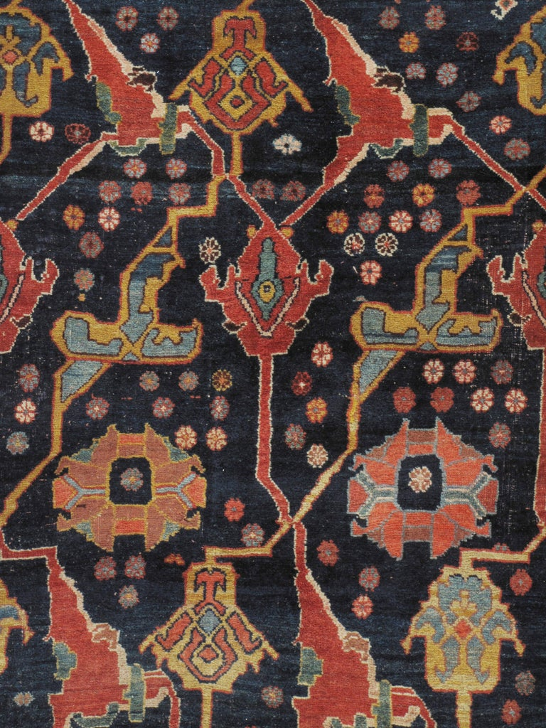 19th Century Antique Oversize Persian Bidjar Rug, circa 1880 For Sale