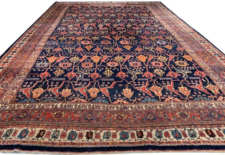 Antique Oversize Persian Bidjar Rug, circa 1880 For Sale 1