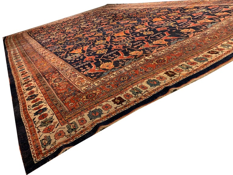 Antique Oversize Persian Bidjar Rug, circa 1880 For Sale 2