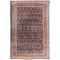 Antique Oversize Persian Bidjar Rug, circa 1880