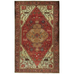 Antique Oversize Persian Heriz Serapi Rug, circa 1890