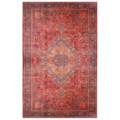 Antique Oversize Persian Red Farahan Sarouk Rug, circa 1880-1900