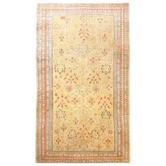 Antique Oversize Samarkand Pomegranate Design Khotan Rug