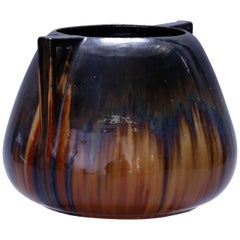 Oversized Arts & Crafts Art Pottery Double Handle Vase by Fulper, circa 1920
