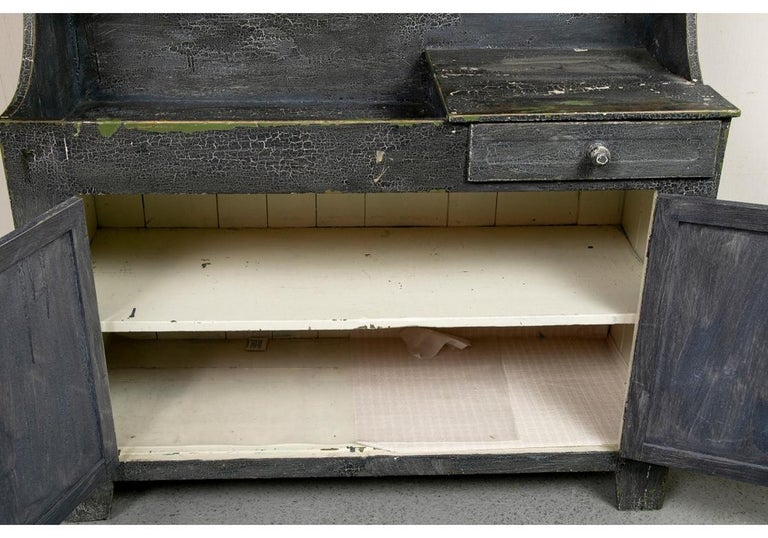 Antique Painted Cottage Cabinet with Dry Sink For Sale 1