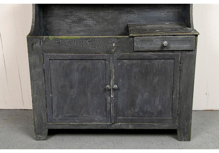Antique Painted Cottage Cabinet with Dry Sink For Sale 2