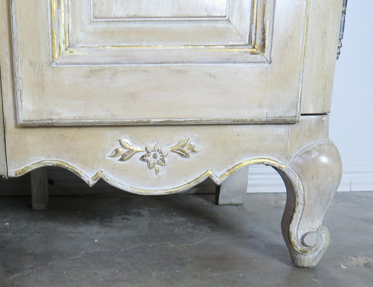 Antique Painted French Louis XV Style Cabinet, circa 1940s For Sale 4