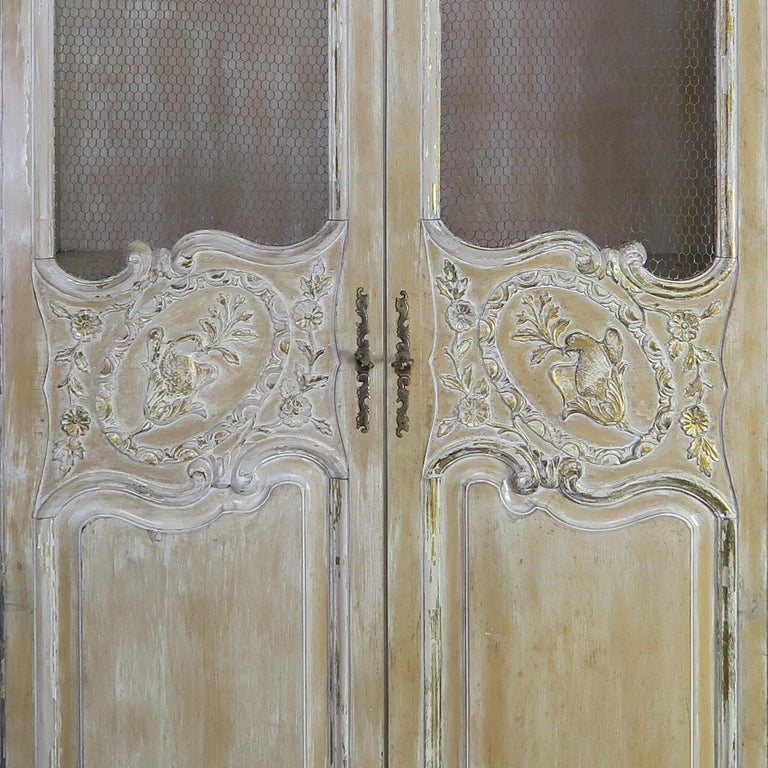 Antique Painted French Louis XV Style Cabinet, circa 1940s For Sale 6