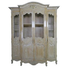 Antique Painted French Louis XV Style Cabinet, circa 1940s