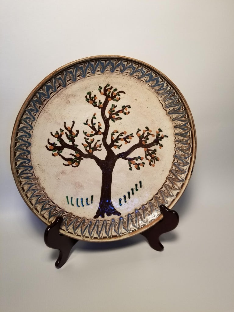 Folk Art Antique Painted Late For Sale