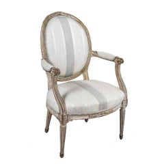 Antique Painted Louis XVI Style Armchair