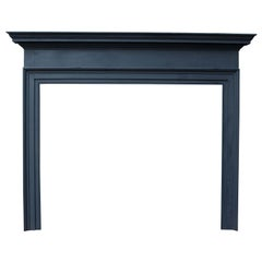 Antique Painted Pine Fireplace