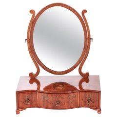Antique Painted Satinwood Box Mirror