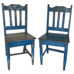 Antique Painted Wooden Chairs