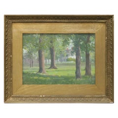 Antique Painting by Robert Hogg Nisbet 'Cook House' Landscape Oil on Board