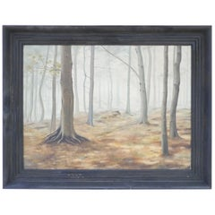 Antique Painting through the Woods, '1945'