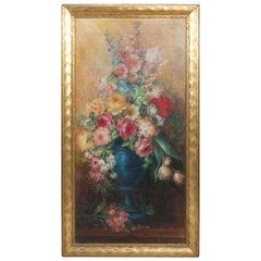 Antique Painting, Victorian Still Life Floral Signed Esther Von Kramer