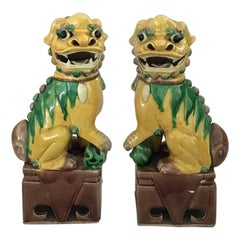 Antique Pair of Chinese Foo Dogs