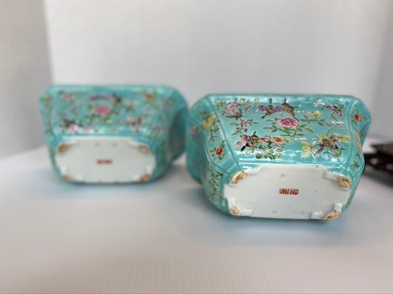 Antique Pair of Chinese Porcelain Jardinières In Good Condition In Sarasota, FL