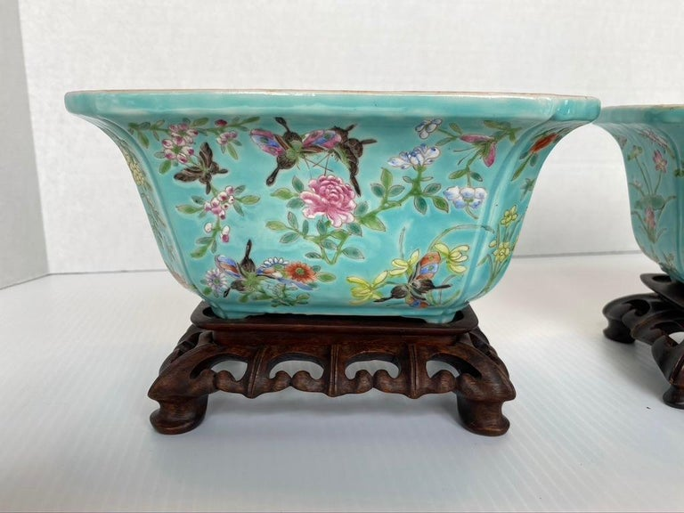 19th Century Antique Pair of Chinese Porcelain Jardinières