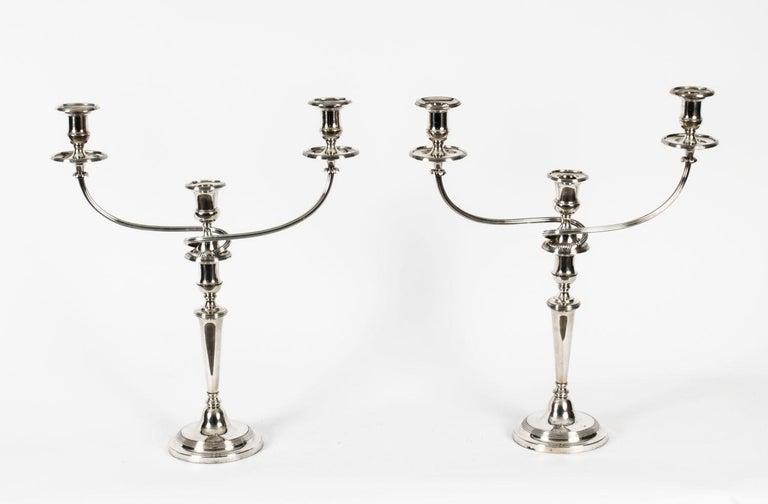 Antique Pair of George III 3-Light Candelabras Matthew Boulton, 18th Century For Sale 13