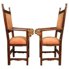 Antique Pair of 19th Century Italian Armchairs